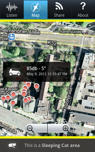 WideNoise App - Map View